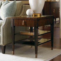 Lexington St.Tropez Rochelle End Table in Rich Walnut Brown -