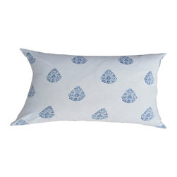 Alamwar - Henna Indigo Decorative Pillow - Indigo is still going strong in the design world. Work it into your living room or bedroom with this crisp pillow. The eclectic pattern in a classic palette is an easy addition to your refined aesthetic. And it's machine washable so you don't have to worry about treating it with kid gloves.