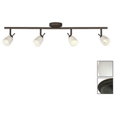 Shop Galaxy 4-Light Oil-Rubbed Bronze Glass Pendant Linear Track Lighting Kit at