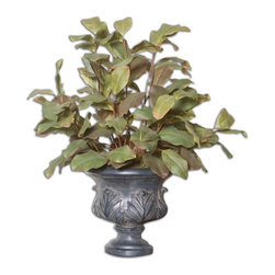 Uttermost - Prestique Magnolia Foilage - The only thing you have to do to this wonderful arrangement is dust it occasionally. No watering, no feeding, no picking up dead leaves. The magnolia leaves in all their glory are here to stay!