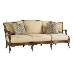 Lexington - Tommy Bahama Island Estate Veranda Sofa - The cushion sets for this frame style are available with either a boxed-edge back cushion or with multiple scatter back pillows. Both sets include throw pillows so add color, pattern, or decorative trims with Final Touches no charge options.