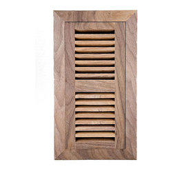 None - Image Flooring 4x12-inch Unfinished American Walnut Wood Vent - Image wood vent is designed to enhance the beauty and character of any environment Hardwood flooring flush mount vent is ready to finish Wood vent allows you to direct the right amount of air where you need it