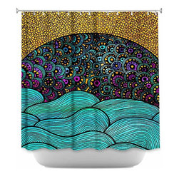 DiaNoche Designs - Shower Curtain Artistic - Oceania - DiaNoche Designs works with artists from around the world to bring unique, artistic products to decorate all aspects of your home.  Our designer Shower Curtains will be the talk of every guest to visit your bathroom!  Our Shower Curtains have Sewn reinforced holes for curtain rings, Shower Curtain Rings Not Included.  Dye Sublimation printing adheres the ink to the material for long life and durability. Machine Wash upon arrival for maximum softness. Made in USA.  Shower Curtain Rings Not Included.