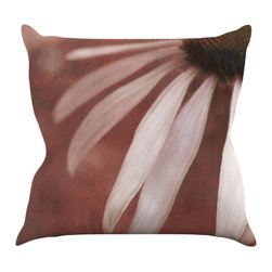 "Kess InHouse - Iris Lehnhardt ""Copper and Pale Pink"" Brown Flower Throw Pillow (16"" x 16"") - Rest among the art you love. Transform your hang out room into a hip gallery, that's also comfortable. With this pillow you can create an environment that reflects your unique style. It's amazing what a throw pillow can do to complete a room. (Kess InHouse is not responsible for pillow fighting that may occur as the result of creative stimulation)."