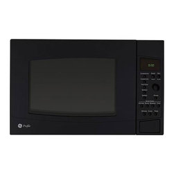 GE - GE Profile PEB1590DMBB Black 1.5-cu-ft Countertop Microwave Oven - With this GE Profile black microwave,you can give your kitchen decor an elegant update. This 1.5-cubic foot microwave offers 1,000 watts of power and easy-use settings for quick cooking.