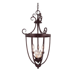 Savoy House - Entry Lantern Foyer 6 Light - Six light open Foyer pendant with rich English Bronze finish and elegant classic styling.