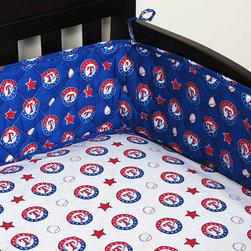 Sports Coverage Inc - MLB Texas Rangers Crib Bumper Baseball Bedding Accessory - FEATURES:
