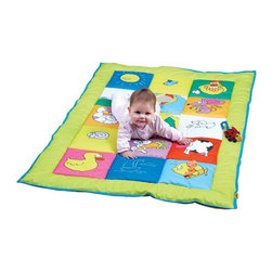 Edushape - Edushape Double Sided Baby Mat Multicolor - 926200 - Shop for Gyms and Play Mats from Hayneedle.com! The Edushape Double Sided Baby Mat is a large play mat that is perfect for some good old fashioned tummy time. With a soft mirror and a squeaker this two-sided mat will be your baby's new favorite.About EdushapeEstablished in 1983 Edushape is a family-owned and -operated company with a focus on manufacturing quality children's toys and products. Edushape is committed to producing soft safe quality children's toys that promote successful developmental learning through play.