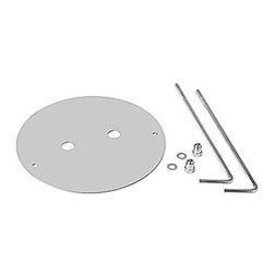 SLV Lighting - 232220U Concrete Anchor Set - Concrete anchor set features a stainless steel finish. Includes (1) mounting plate, (2) anchor screws, (2) washers and (2) cap nuts. For use with Square Pole 30/60/90 exterior bollards.