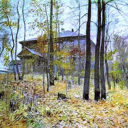 "Isaac Ilich Levitan Autumn. The Manor - 18"" x 24"" Premium Archival Print - 18"" x 24"" Isaac Ilich Levitan Autumn. The Manor premium archival print reproduced to meet museum quality standards. Our museum quality archival prints are produced using high-precision print technology for a more accurate reproduction printed on high quality, heavyweight matte presentation paper with fade-resistant, archival inks. Our progressive business model allows us to offer works of art to you at the best wholesale pricing, significantly less than art gallery prices, affordable to all. This line of artwork is produced with extra white border space (if you choose to have it framed, for your framer to work with to frame properly or utilize a larger mat and/or frame).  We present a comprehensive collection of exceptional art reproductions byIsaac Ilich Levitan."