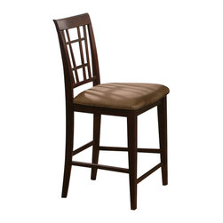 Atlantic Furniture - Atlantic Furniture Montego Bay Cappuccino Fabric Pub Chair (Set of 2)-Espresso - Atlantic Furniture - Bar Stools - AD773231 - The Atlantic Furniture Montego Bay Pub Chairs are constructed from Eco-friendly solid hardwood and have an elegant wood finish. This set of two pub chairs feature a Cappuccino colored seat cushion. The Montego Bay Pub Chairs are perfect for a casual dining room setting.