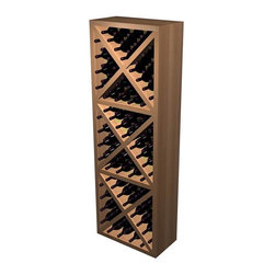 Wine Cellar Innovations - Solid Diamond Cube Wine Rack (All-Heart Redwood - Dark Walnut Stain) - Choose Wood Type and Stain: All-Heart Redwood - Dark Walnut Stain. Bottle capacity: 132. Beveled ends and rounded edges. Labels are safe from tearing. 24.44 in. W x 12.69 in. D x 72 in. H (68 lbs.). Designer collection. Made in USA. Warranty. Assembly Instructions. Rack should be attached to a wall to prevent wobbleThe Solid Diamond Cube is a popular, attractive and sturdy wine rack. The decorative face trim adds to the sturdy appearance.