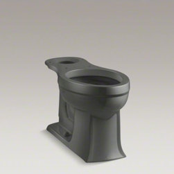 KOHLER - KOHLER Archer(R) Comfort Height(R) elongated bowl - The Archer(TM) Comfort Height Toilet combines exceptional performance and the enduring transitional style of the Archer collection. Blending subtle design elements found in Craftsman furniture and the intricate facets of fine jewelry, this combination of