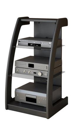 Sonax - Sonax Milan Black Three Shelf Component Stand ...
