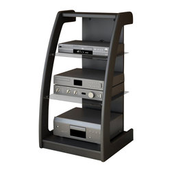 Sonax - Sonax Milan Black Three Shelf Component Stand - Sonax - Audio Racks - ML1220 - The Milan Collection audio component stand is abeautiful compliment to any wall mounted TV. Using space efficiently andsparingly this unique stand provides your components with plenty of aircirculation allowing them to function efficiently for long periods of time. Oursignature Midnight Black lacquer finish of the Milan Component Stand is accented by the tinted safetyglass shelves create the ideal stylized storage solution for any room in yourhouse. Bring home this contemporary furniture by Sonax proudly built in NorthAmerica. Features: