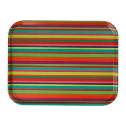 Vitra - Classic Trays, Millerstripe - Rainbow-colored stripes are only the beginning in this versatile tray. The pattern is a classic first designed by Alexander Girard in the mid-20th century and used here in dishwasher-safe thermoset plastic. Use it to corral bar essentials,  beauty items or even your retro TV dinner.
