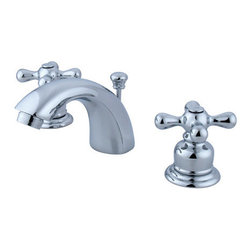 """Kingston Brass - Kingston Brass GKB941AX Polished Chrome Victorian Victorian - Victorian WaterSense Certified Double Handle 4"""" to 12"""" Mini Widespread Lavatory Faucet with American Cross Handles and Drain AssemblyKingston BrassÂ' primary mission is to become the leading provider of cost effective, high quality products in the plumbing community. Their focus has made them grow by leaps and bounds in just a few years by identifying the key problems in manufacturing today and solving them. Kingston Brass produces high quality products ranging from kitchen, bath, and lavatory faucets to accessories such as diverters, towel bars, robe hooks, supply lines, and miscellaneous parts. With the low price, amazing stock times and quality products, you can rest assured that when you order a Kingston Brass product you will love every part of the experience, and it will last for generations to come.Features:Coordinates well with Traditional / Classic theme1/4 turn valvesWasherless cartridge1/2"""" IPS inletsIncludes drain assemblyConstructed from solid brass for durability and reliabilityFinished with a premium color to resist tarnishing and corrosionWaterSense CertifiedFaucet holes: 3Handle style: Metal CrossNumber of handles: 2Drain assembly included: YesSpecifications: Height: 3.5""""Spout reach: 4.5""""Spout height: 2"""""""