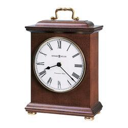 Howard Miller - Howard Miller Quartz Mantel Clock jewelry drawers Cherry 635112 KAYLA - 635-112 Kayla