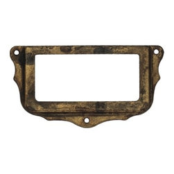 Classic Hardware - Distressed Antique Brass Card Holder (CH10108103) - Distressed Antique Brass Card Holder