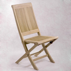 Be Furnished - Lahaina Folding Teak Chair (BF-DC04ss) - Lahaina Folding Teak Chair by Anderson�ۢ The��Lahaina Folding Teak Chair is a strong, durable and versatile chair made out of Grade A teak wood.