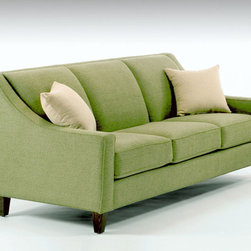 City Sofa - The City Sofa gets out and about - from your favorite hang-out to a sophisticated parlor. Clean, strong lines and a tight, channeled back keep the City Sofa neat and tailored and give incredibly comfortable, firm back support. We add tie down straps under the seat cushions to keep them in place and looking good.