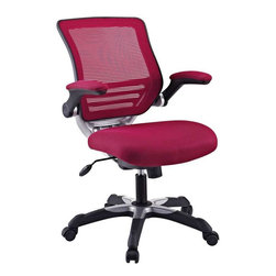 Modway - Edge Office Chair in Burgundy - Welcome to a new era in functional comfort. The Edge office chair combines old time charm with cutting edge ergonomics to deliver one comprehensive seating experience. Every feature imaginable in a chair is available as soon as you sit down. This is a chair that you can conform to behave exactly how you need it.The Edge Office Chair ' giving you the comfort you need when you need it most.