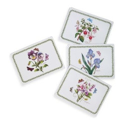 Portmeirion Usa - Pimpernel Botanic Garden Chintz Hardback Placemats (Set of 4) - These unique placemats are like pieces of art for your table. Intricate designs and classic color palettes create a timeless look that adds elegance to any meal.