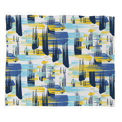 DENY Designs - Zoe Wodarz Indigo Ikat Fleece Throw Blanket - This DENY fleece throw blanket may be the softest blanket ever! And we're not being overly dramatic here. In addition to being incredibly snuggly with it's plush fleece material, it's maching washable with no image fading. Plus, it comes in three different sizes: 80x60 (big enough for two), 60x50 (the fan favorite) and the 40x30. With all of these great features, we've found the perfect fleece blanket and an original gift! Full color front with white back. Custom printed in the USA for every order.