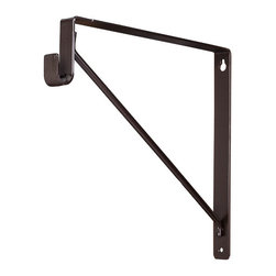 "Shelf & Rod Support Bracket - Shelf & Rod Support Bracket.  Finish: Chrome.  10 3/4"" height x 11 3/4"" overall depth.  11"" interior bracket depth.  1"" wide steel design supports up to 150lbs per bracket.  Designed for use with Hardware Resources 15mm x 30mm Oval Closet Rods."