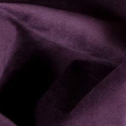 Princess Suede Upholstery in Aubergine - Discount High Traffic Upholstery Fabric: Princess Suede in Purple. Ideal for reupholstering chairs, sofa, ottoman, and more, drapery, pillows.