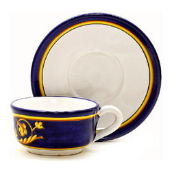 Artistica - Hand Made in Italy - PRINCIPATO: Cup and Saucer (2069-1935) - Masterfully hand painted our Principato design features a refined design exclusively available in the USA only throughout Artistica!