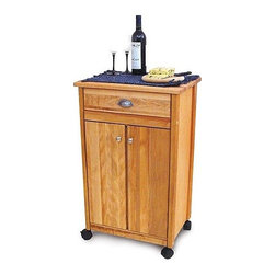 Catskill Craftsmen - Cuisine Kitchen Cart - This fine kitchen cart with butcher block features a domestic hardwood top, braces, legs, doors and drawers. Finely matched warp-resistant veneer sides, shelves and back panel finish out the sturdy construction. Locking caster wheels, oil finish and adjustable shelving are more of the features you will find. This kitchen cart can be a practical addition to your kitchen with its classic style and clean finish. Features: -Solid wood top.-One storage drawer.-Cabinet with adjustable middle shelf.-Satin nickel handles and cabinet knobs.-Constructed from North American hardwood and hardwood veneers.-Natural oil finish.-Cuisine collection.-Collection: Cuisine.-Distressed: No.-Country of Manufacture: United States.-Product Type: Kitchen Island.-Base Finish: Natural Wood.-Counter Finish: Natural Wood.-Hardware Finish: Nickel plated.-Powder Coated Finish: No.-Gloss Finish: No.-Base Material: Yellow Birch.-Counter Material: Yellow Birch.-Hardware Material: Nickel plated.-Solid Wood Construction: No.-Stain Resistant: No.-Warp Resistant: No.-Exterior Shelves: No.-Drawers Included: Yes -Number of Drawers: 1.-Push Through Drawer: No.-Drawer Glide Extension: No.-Dovetail Joints: No.-Drawer Dividers: No.-Drawer Handle Design: Cup.-Silverware Tray : No.-Number of Drawers: 1.-Push Through Drawer: No.-Drawer Glide Extension: No.-Dovetail Joints: No.-Drawer Dividers: No.-Drawer Handle Design: Cup.-Silverware Tray : No.-Number of Drawers: 1.-Push Through Drawer: No.-Drawer Glide Extension: No.-Dovetail Joints: No.-Drawer Dividers: No.-Drawer Handle Design: Cup.-Silverware Tray : No.-Number of Drawers: 1.-Push Through Drawer: No.-Drawer Glide Extension: No.-Dovetail Joints: No.-Drawer Dividers: No.-Drawer Handle Design: Cup.-Silverware Tray : No..-Cabinets Included: Yes -Number of Cabinets : 1.-Double Sided Cabinet: No.-Number of Interior Shelves: 2.-Adjustable Interior Shelves: Yes.-Number of Doors: 2.-Magnetic Door Catches: Yes.-Locking Doors: No.-Door Handle Design: Cup.-Number of Cabinets : 1.-Double Sided Cabinet: No.-Number of Interior Shelves: 2.-Adjustable Interior Shelves: Yes.-Number of Doors: 2.-Magnetic Door Catches: Yes.-Locking Doors: No.-Door Handle Design: Cup.-Number of Cabinets : 1.-Double Sided Cabinet: No.-Number of Interior Shelves: 2.-Adjustable Interior Shelves: Yes.-Number of Doors: 2.-Magnetic Door Catches: Yes.-Locking Doors: No.-Door Handle Design: Cup.-Number of Cabinets : 1.-Double Sided Cabinet: No.-Number of Interior Shelves: 2.-Adjustable Interior Shelves: Yes.-Number of Doors: 2.-Magnetic Door Catches: Yes.-Locking Doors: No.-Door Handle Design: Cup..-Towel Rack: No.-Pot Rack: No.-Spice Rack: No.-Cutting Board: Yes.-Drop Leaf: No.-Drain Groove: No.-Trash Bin Compartment: No.-Stools Included: No.-Casters: Yes -Locking Casters: Yes.-Removable Casters: Yes.-Locking Casters: Yes.-Removable Casters: Yes.-Locking Casters: Yes.-Removable Casters: Yes.-Locking Casters: Yes.-Removable Casters: Yes..-Wine Rack: No.-Stemware Rack: No.-Cart Handles: No.-Finished Back: Yes.-Weight Capacity: 300 lbs.-Shelf Weight Capacity: 100 lbs.-Swatch Available: No.-Commercial Use: Yes.-Recycled Content: No.-Eco-Friendly: Yes