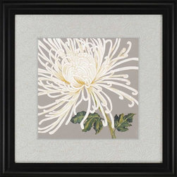 Paragon Decor - Glorious Whites II Artwork - Print is raised with hand painted silver bevels. A decorative paper covered board add the right touch of elegance.