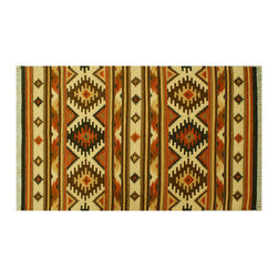 Area Rug, 4'X6' Anatolian Kilim Hand Woven Colorful Geometric Design Rug SH6417 - Soumaks & Kilims are prominent Flat Woven Rugs.  Flat Woven Rugs are made by weaving wool onto a foundation of cotton warps on the loom.  The unique trait about these thin rugs is that they're reversible.  Pillows and Blankets can be made from Soumas & Kilims.