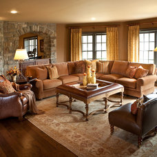 Traditional Family Room by Details Interiors, LLC