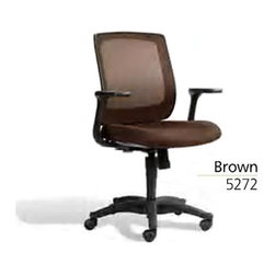 Jesper Office Furniture - Camilla Office Chair in Brown - Features: