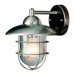 Trans Globe Lighting - Trans Globe Lighting 4370 ST Outdoor Wall Light In Stainless Steel - Part Number: 4370 ST