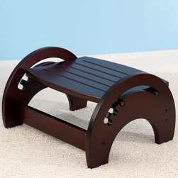 KidKraft - KidKraft Nursing Stool - Cherry - 15131 - Shop for Footstools from Hayneedle.com! The perfect complement to your nursery rocker and a must-have for long nights with baby the KidKraft Nursing Stool is a smart addition. This stool lets you put your feet up to relax your back and it has three settings to give you the best angle while nursing or rocking. Crafted from rubberwood it features beautiful cherry finish to warm up and enrich any room in your home. Anti-slip pads on the bottom ensure a slip-free position on any flooring and all the edges are rounded for added safety.About KidKraftKidKraft is a leading creator manufacturer and distributor of children's furniture toy gift and room accessory items. KidKraft's headquarters in Dallas Texas serves as the nerve center for the company's design operations and distribution networks. With the company mission emphasizing quality design dependability and competitive pricing KidKraft has consistently experienced double-digit growth. It's a name parents can trust for high-quality safe innovative children's toys and furniture.
