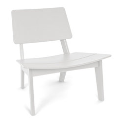 Loll Designs - Lago Chair, Cloud White - This streamlined chair makes posture pleasurable. It keeps you wonderfully positioned, as the subtle scoop design gently envelops you in comfort.