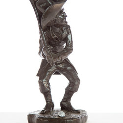 Casa de Arti - Cowboy Playing Golf Sports Decor Statuary Golfing Decorative Fine Art Figure Sta - Playful sculpture of a Cowboy playing golf, perfect gift idea for Dad or golf lovers!