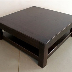 "48"" Rustic Pine Coffee Table in Espresso Finish - Made by http://www.ecustomfinishes.com"