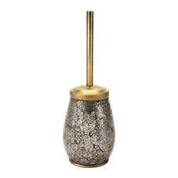 Gedy - Floor Standing Pottery Toilet Brush In Gold Finish - Available in a gold finish, this floor standing toilet brush has a contemporary, elegant look perfect for the modern bathroom. It is made from pottery, glass and steel. This toilet brush was made in Italy by Gedy as part of their Myosotis collection. Floor standing toilet brush. Comes in gold finish. Made from pottery, glass and steel. Contemporary/modern style. Manufactured by designer Gedy. Made in Italy.