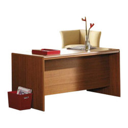Bush - Bush Northfield 4-Piece Executive Computer Desk Set in Dakota Oak - Bush - Office Sets - EX17512KPKG2 - Bush Northfield Wood Credenza Computer Desk in Dakota Oak (included quantity: 1) Transform your Northfield desk into an executive suite with the Bush Furniture Northfield Collection Credenza. Featuring rich Dakota Oak finish, the credenza is compatible with the Northfield Credenza Hutch and includes work and storage space to make your working life easier, more organized and more efficient.Features: