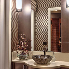 Contemporary Powder Room by Pacific Stone Fabrication