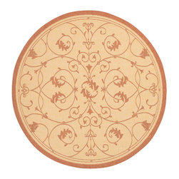 """Couristan - Recife Veranda Rug 1583/1112 - 7'6"""" x 7'6"""" Round - These weather-defying area rugs are suitable for indoor and outdoor use. You'll love the way they color-coordinate with today's most popular outdoor furniture pieces. The collection's naturally inspired color palette will provide a warmer and more inviting appearance for patio decks and stone entryways."""