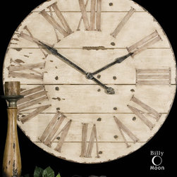 Products From Previous Projects - Features an antiqued ivory face with gentle distressing