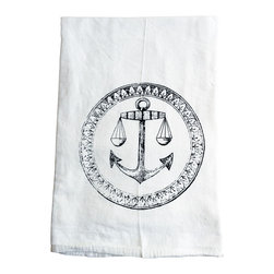 The Coin Laundry - Anchor Cotton Kitchen Tea Towel - Ahoy!