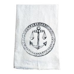 The Coin Laundry - Anchor Cotton Kitchen Tea Towel - Ahoy!