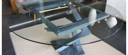 Machine Age | Fleur de Fer Dining Table by Maurice Barilone for Roche Bobois