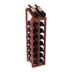 Wine Racks America - 2 Column 8 Row Display Top Kit in Pine, Cherry Stain + Satin Finish - Display your best vintage while efficiently storing 16 wine bottles. This slim design is a perfect fit for almost any space. Our wine cellar kits are constructed to industry-leading standards. Display top wine racks are perfect for commercial or residential environments.